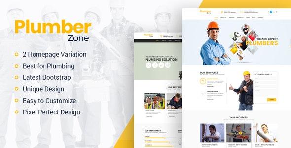 Plumber Zone - Plumbing, Repair & Construction WordPress Theme - Business Corporate