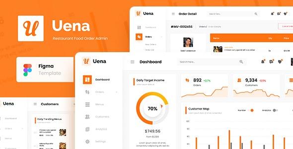 Uena - Restaurant Food Order Admin Dashboard UI Figma Template - Miscellaneous Figma