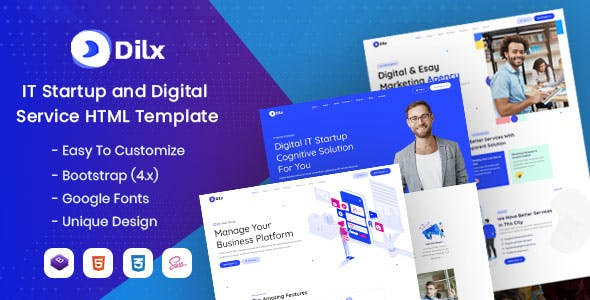 Download Dilx - IT & Marketing Startup HTML Template