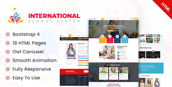 Inernational School – Education Primary School Html Template - Business Corporate