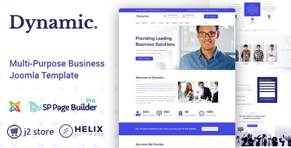 Dynamic - Responsive Multipurpose Joomla Template - Business Corporate