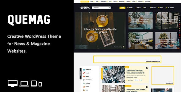 Download Quemag – Creative WordPress Theme for Bloggers