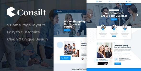 Consilt - Business PSD Template - Corporate Photoshop