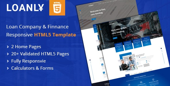 Loanly | Financial  Loans HTML5 Template - Corporate Site Templates