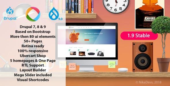 Progressive — Multipurpose Responsive Drupal 7, 8 & 9 Theme