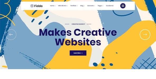 Fidda - Portfolio & Digital Agency PSD Template