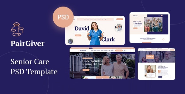 PairGiver - Senior Care PSD Template - Health & Beauty Retail