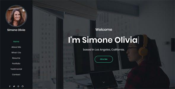 Download Simone - Personal Portfolio Template