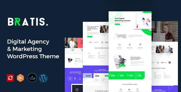 Bratis - Digital Marketing WordPress Theme - Portfolio Creative