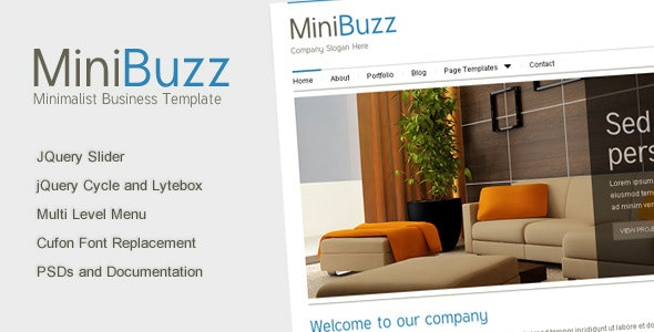 Minibuzz - Clean Minimalist Business HTML Template - Business Corporate