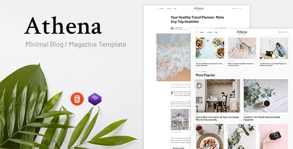 Download Athena - Minimal Blog/Magazine HTML Template