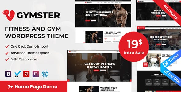 Download Gymster  - Fitness and Gym WordPress Theme