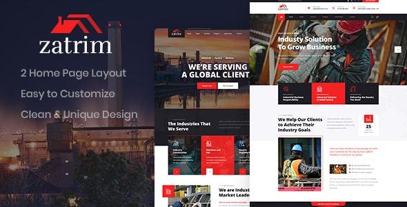 Zatrim - Industrial PSD Template - Business Corporate