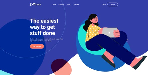 Ximas - App Landing Page
