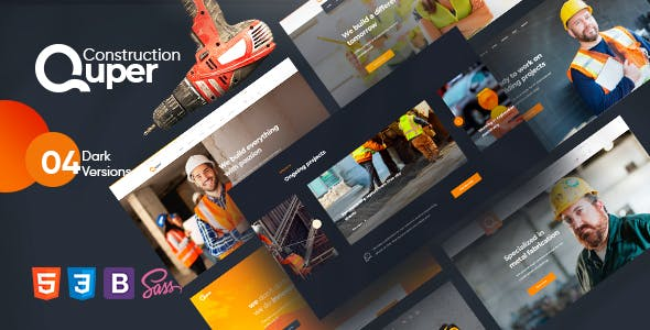 Download Quper - Construction HTML5 Template