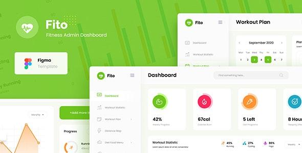 Fito - Fitness Website Admin Dashboard UI Template Figma - Miscellaneous Figma