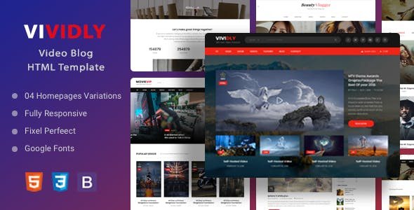 Download Vividly | Video Blog HTML Template