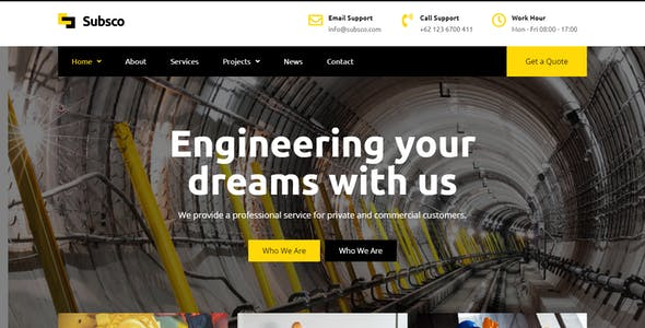 Subsco - Construction HTML Template