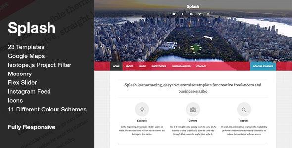 Splash - HTML5 CSS3 Stylish Responsive Template - Creative Site Templates