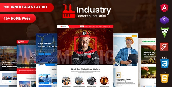 Industry - Factory & Industrial Angular 10 Template - Corporate Site Templates