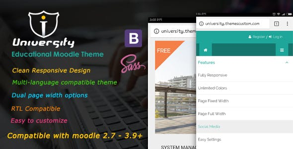 Download University - Responsive Moodle Theme