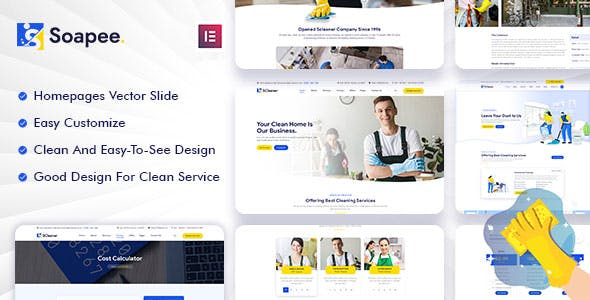 Soapee - Cleaning Services WordPress Theme