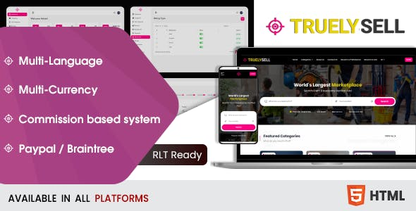 Download Truelysell - Service Marketplace Bootstrap HTML Template
