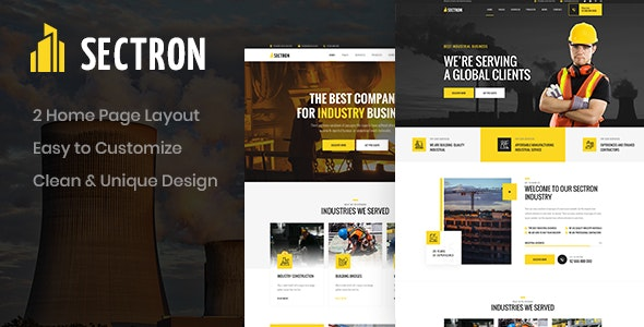 Sectron - Industrial PSD Template - Business Corporate