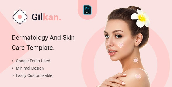 Gilkan - Dermatology and Skin Care Template - Health & Beauty Retail