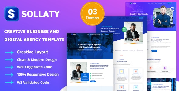Sollaty - Business Template &  IT Services Agency - Business Corporate