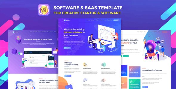 Winsoft - Saas Agency & Software Landing Page - Software Technology