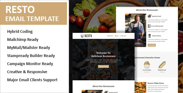 Resto Email Newsletter Template - Newsletters Email Templates