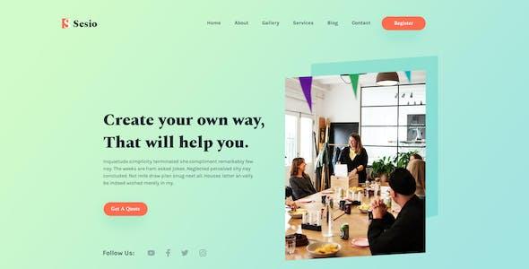 Sesio - Digital Agency PSD Template