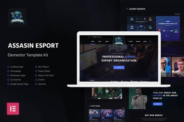 Assasin | eSport Elementor Template Kit - Events & Entertainment Elementor