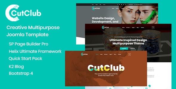CutClub - Creative Multipurpose Joomla Template - Corporate Joomla