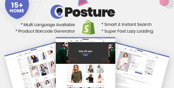 Posture - Multipurpose Responsive Shopify Theme - Fashion Shopify