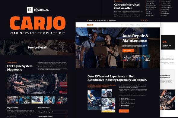 Carjo - Car Services & Repair Elementor Template Kit - Automotive & Transportation Elementor