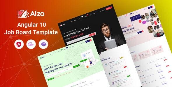 Alzo - Angular 10 Job Board Template - Business Corporate