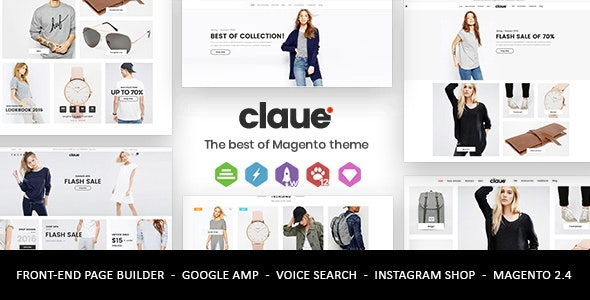 Claue - Clean, Minimal Magento 2 and 1 Theme - Fashion Magento