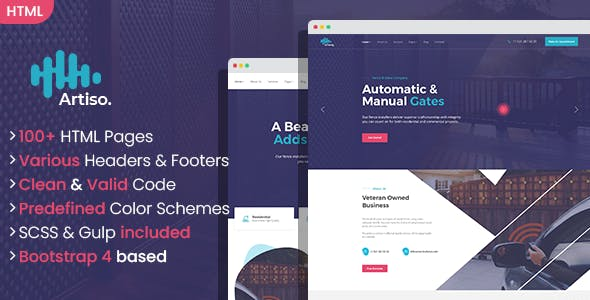 Download Artiso - Fence and Gates Company HTML Template