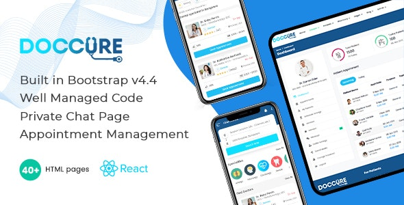 Doccure - Doctor Appointment Booking System Bootstrap React Template (ReactJS) - Health & Beauty Retail