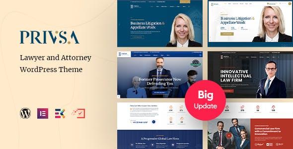 Privsa - Attorney and Lawyer WordPress Theme
