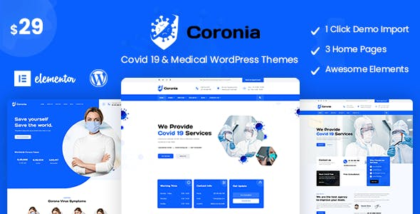 Download Coronia - Covid 19 & Medical  WordPress Themes