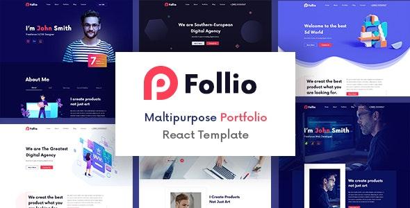 Follio - Multipurpose Portfolio React Template - Portfolio Creative