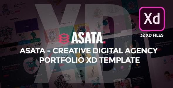 Asata - Creative Digital Agency Portfolio XD Template - Portfolio Creative