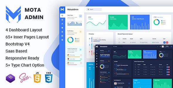 MotaAdmin - Admin & Dashboard Template - Admin Templates Site Templates