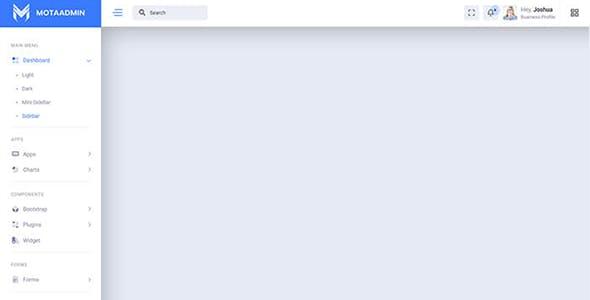 MotaAdmin - Admin & Dashboard Template