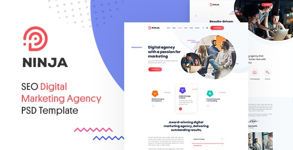 Ninja - SEO & Digital Agency Marketing PSD Template - Marketing Corporate
