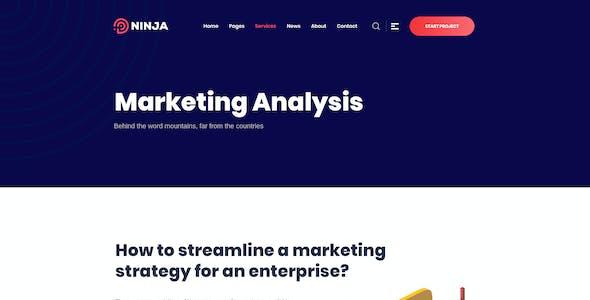 Ninja - SEO & Digital Agency Marketing PSD Template