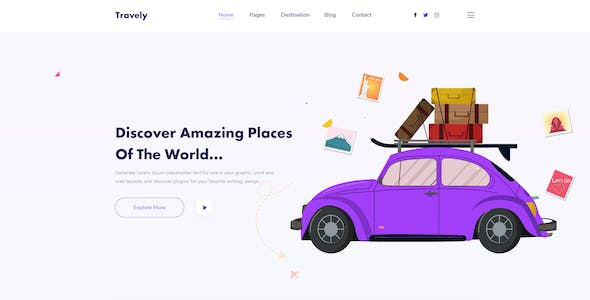Travely-Travel Agency Xd Template